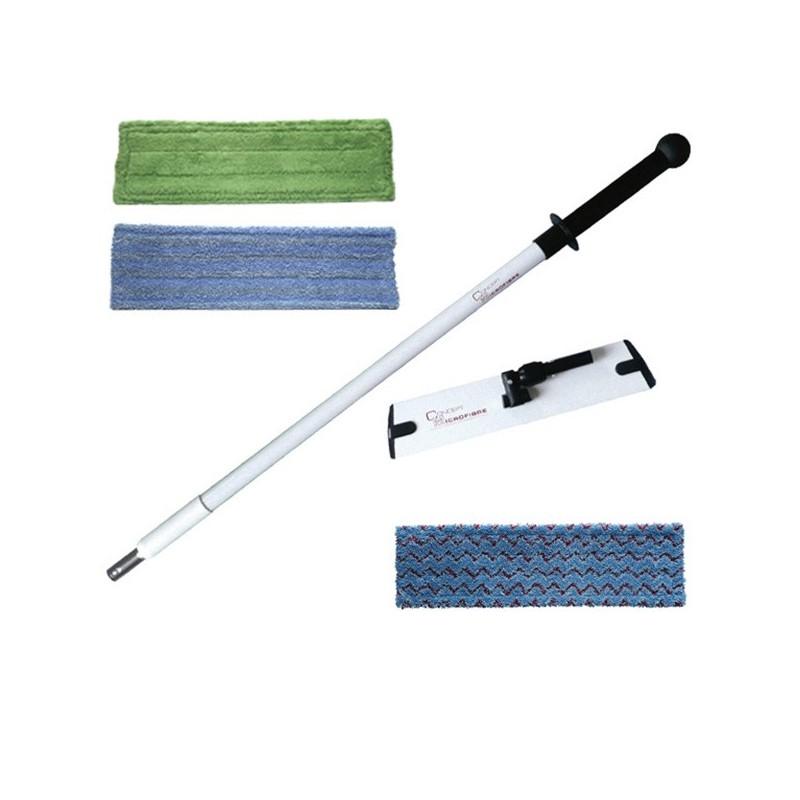 Balais et mops microfibre - Concept + sec-humide-renforcé