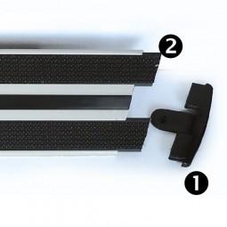 Balais et mops microfibre - Bandes velcros