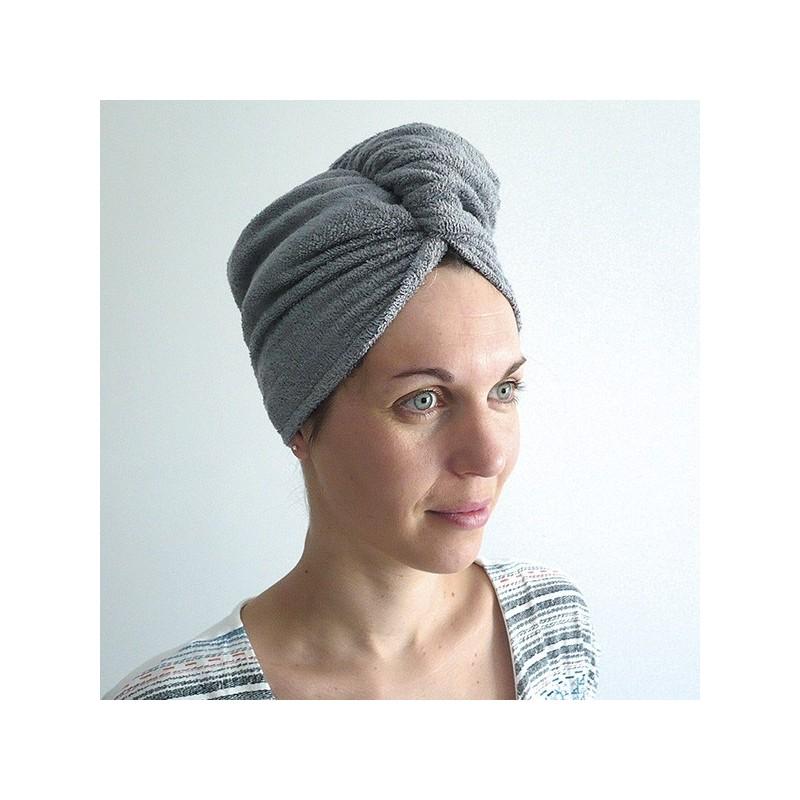Toilette et bain Bambou - Turban cheveux gris