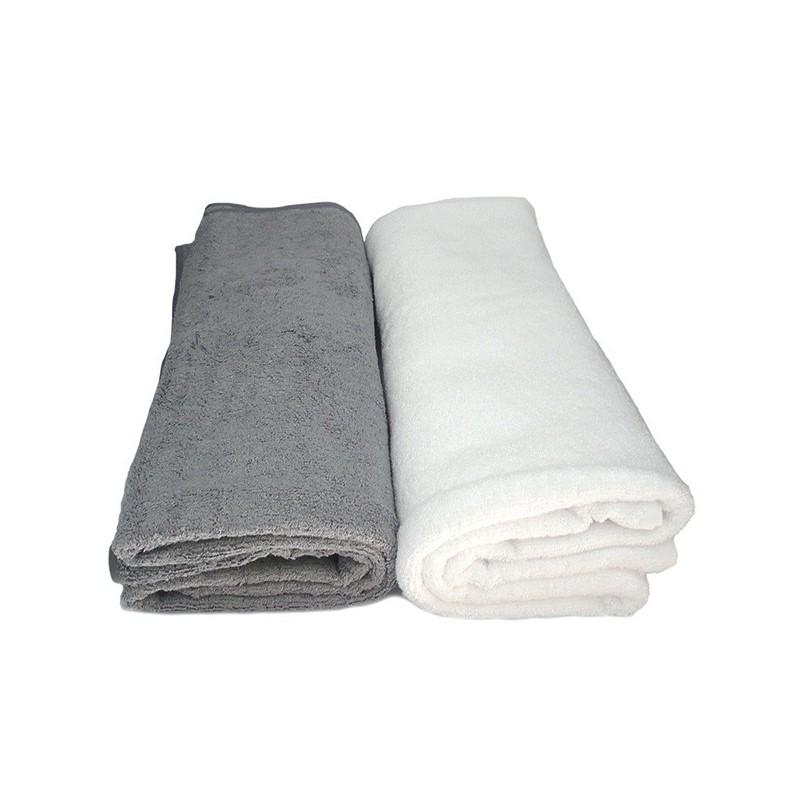 Toilette et bain Bambou - drap de bain gris 90x150 cm