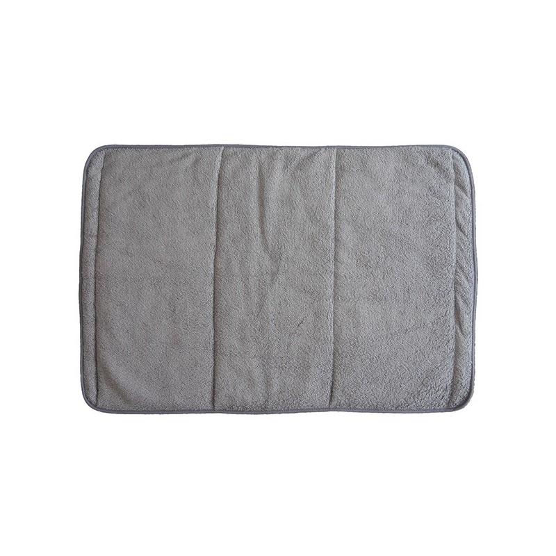 Toilette et bain Bambou - tapis de bain gris 50x70 cm