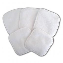 Toilette et bain Microfibre  - 5 lingettes lavables