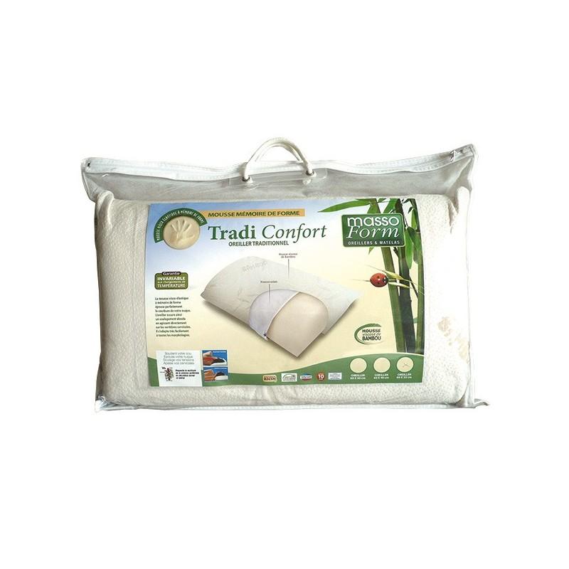 Confort du sommeil - Oreiller confort luxe 60x40 cm