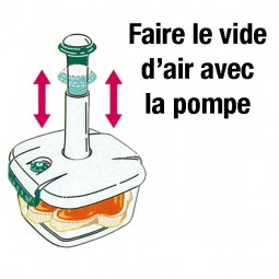 "Sous-vide FOODY FOOD - Rectangle 1 L ""sans pompe"""