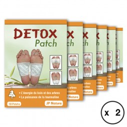 Détox patch - Foot patch JP NATURE - Détox renforcée x2 - 120 patchs